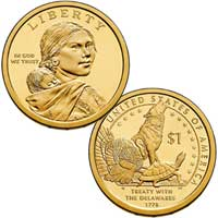 Native American $1 Coin 2013