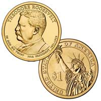 Theodore Roosevelt Presidential Dollar 2013