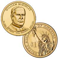 William McKinley Presidential Dollar 2013