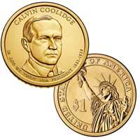 Calvin Coolidge Presidential Dollar 2014