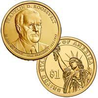 Franklin D. Roosevelt Presidential Dollar 2014
