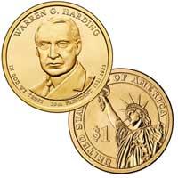 Warren G. Harding Presidential Dollar 2014