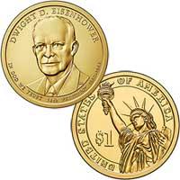 Dwight D. Eisenhower Presidential Dollar 2015