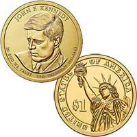 John F. Kennedy Presidential Dollar 2015