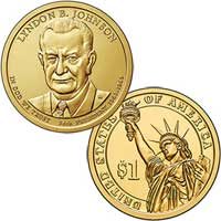 Lyndon B. Johnson Presidential Dollar 2015