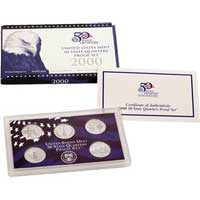 2000 United States Mint 50 State Quarters Proof Set (Q00)