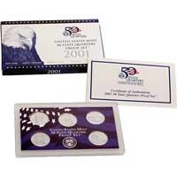 2001 United States Mint 50 State Quarters Proof Set (Q01)