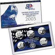 2005 United States Mint 50 State Quarters Proof Set (Q05)