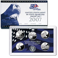 2007 United States Mint 50 State Quarters Proof Set (Q07)
