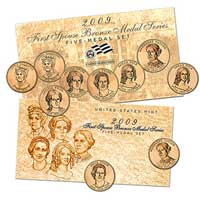 2009 First Spouse Bronze Medal Series: Five-Medal Set (XQ4)
