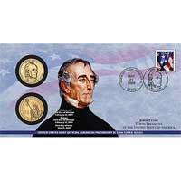 2009 John Tyler $1 Coin Cover (P30)
