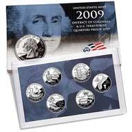 2009 District of Columbia & U.S. Territories Quarters Proof Set (Q09)