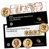 2010 First Spouse Bronze Medal Series: Four-Medal Set (X61)