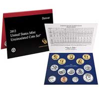 Uncirculated Coin Set 2012 (U12)