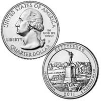 Gettysburg National Military Park Quarter (Pennsylvania) 2011
