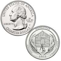 Homestead National Monument of America Quarter (Nebraska) 2015