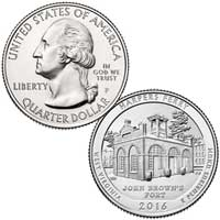 Harpers Ferry National Historical Park Quarter (West Virginia) 2016