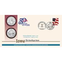 2004 - Iowa First Day Coin Cover (Q38)