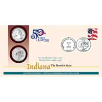 2002 - Indiana First Day Coin Cover (Q28)