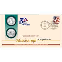 2002 - Mississippi First Day Coin Cover (Q29)
