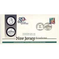 1999 - New Jersey First Day Coin Cover (Q12)
