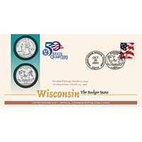 2004 - Wisconsin Official First Day Coin Cover (Q39)